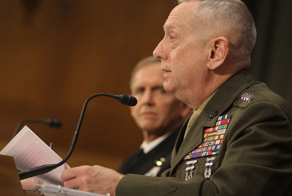 Former Marine Corps General James Mattis, now President-elect Donald Trump's nominee to lead the Defense Department, at a 2011 congressional hearing.