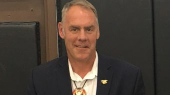 Rep. Ryan Zinke in Frazer, Montana, last summer. (Photo by Mark Trayhant/Trahant Reports)