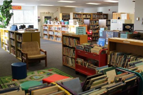 Kake's library was reopened in October 2015 after a 16-year hiatus. Renamed the Shirley Jackson Library, after a local teacher, the facility is operated by the school district, but open to the public. (Photo by Emily Kwong/KCAW)