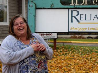 Ruth McCafferty, who works in Kalispell, Mont., credits the training she got through the state's Medicaid expansion with helping her get a good job. Eric Whitney / MTPR