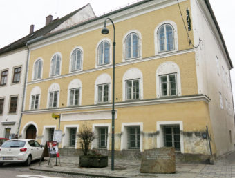 Adolf Hitler was born in 1889 in an upstairs apartment of this house in the Austrian town of Braunau am Inn, near the border with Germany. Soraya Sarhaddi Nelson/NPR