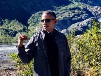 Obama on his 2015 Alaska visit, where he highlighted climate change. (Photo by Liz Ruskin/APRN)