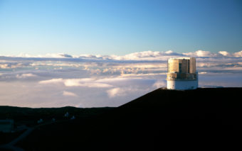 Astronomers searching for an undiscovered planet in the outer solar system hope to catch a glimpse of it Thursday through the Subaru telescope located on top of Hawaii's Mauna Kea mountain. (Photo courtesy of the National Astronomical Observatory of Japan)
