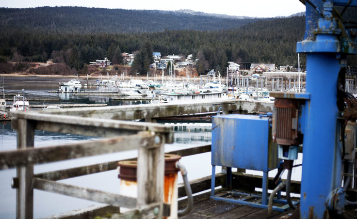 Auke Bay's Statter Harbor is visible next to the Auke Bay Marine Station on Tuesday, Jan. 31, 2017. Juneau Docks and Harbors is interested in the NOAA property for a potential Statter Harbor expansion. (Photo Tripp J Crouse/KTOO)