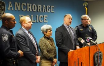 FBI Special Agent Marlon Ritzman addresses reporters at a press conference at Anchorage Police Department headquarters on January 7th, 2016.