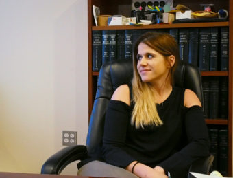 Anchorage lawyer Jana Weltzin talks in her midtown office. Weltzin specializes in marijuana law, at a time when the emerging legal niche is at the center of commercial cannabis in the state. (Photo by Zahariah Hughes/Alaska Public Media)