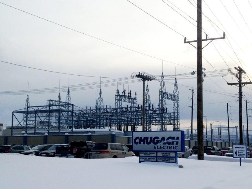 Chugach Electric in Anchorage is one of three utilities announcing a preliminary agreement to work together to reduce power costs. (Photo by Elizabeth Harball/Alaska's Energy Desk)