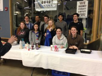 National Honor Society students helped serve food at the pancake dinner at Thunder Mountain High School on Sunday, Jan. 29, 2017. (Photo by Quinton Chandler/KTOO)
