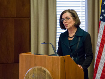 Oregon Gov. Kate Brown's chief of staff will resign at the end of January. (File photo by Office of the Governor/Flickr)