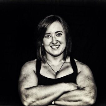 Natalie Hanson set a new American record in women's powerlifting on January 28, 2017 in Milwaukee, WI when she squatted 578.7 pounds at the USA Power Lifting Wisconsin State Open Championship. (Photo by Ryan Carrillo/Lurchman Productions)