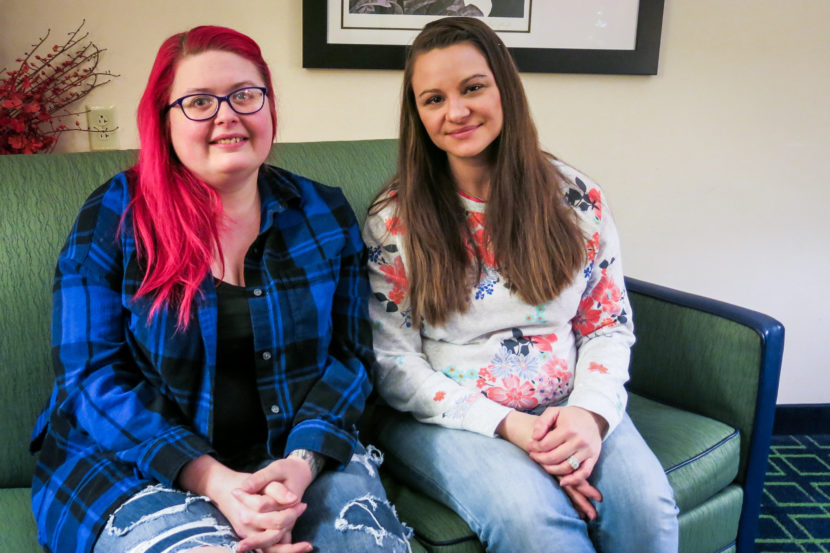 "Jamie Ruppert (R) was featured in an NPR story about Obama voters who supported Donald Trump in last year's presidential election. Amy Whitenight (L) labeled Ruppert an ""idiot"" in a comment on NPR's Facebook page. They recently met in person to talk about their political differences."