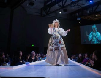 A model at Wearable Art 2017 on Feb. 12, 2017, in Juneau. (Photo courtesy John Hutchins)