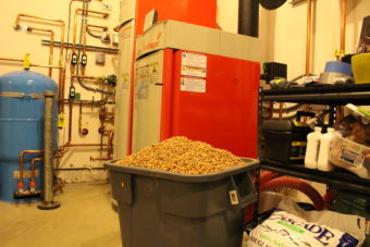 Higdon estimates they go through a little more than a $6 bag a day. (Photo by Elizabeth Jenkins/Alaska's Energy Desk)