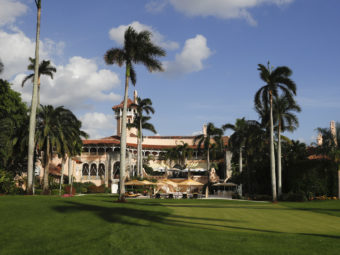 Donald Trump's presidential campaign spent $435,000 for facility rental, catering and lodging at his Mar-a-Lago resort in Palm Beach, Fla., according to Politico.