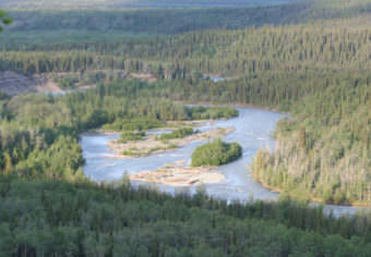 The Klutina River, a tributary of the Copper River (Photo courtesy Alaska Department of Fish and Game)