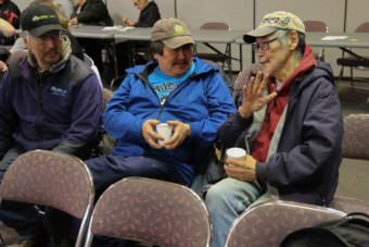 Tribal members from more than a dozen YK Delta tribes met March 8, 2017, in Bethel to discuss how their villages have been affected since alcohol sales began in Bethel last spring and what tribes can do about it. (Photo by Gale Ekamrak/KYUK)