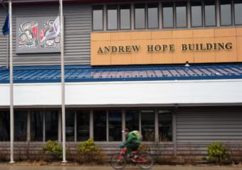 The Andrew Hope Building in downtown Juneau is home to the courtroom of the Central Council of Tlingit and Haida Indian Tribes of Alaska. (Photo by Ed Schoenfeld/CoastAlaska News)