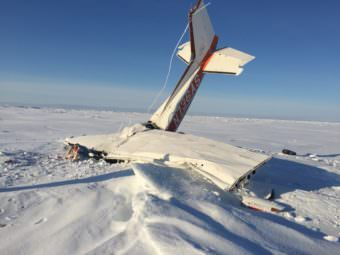 Thomas Grainger's plane, a single-engine, single-passenger Cessna 172, could not land in Nome because of weather and went down after 10:30 p.m. Sunday, March 5, 2017. (Photo courtesy Alaska State Troopers)