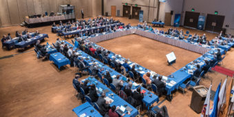 Arctic Council's Senior Arctic Officials met in Juneau's Centennial Hall in March 2017. (Photo courtesy of Linnea Nordström/Arctic Council Secretariat)