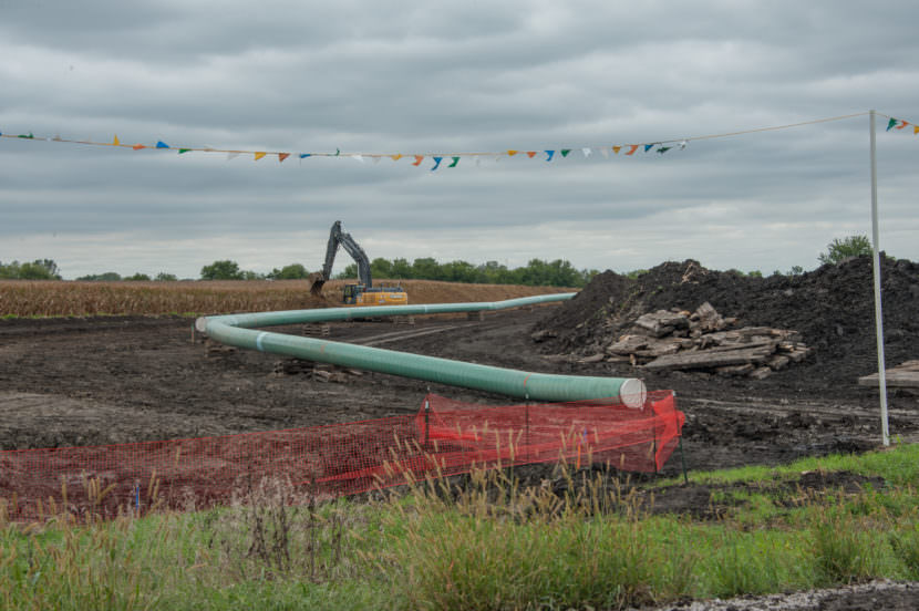 The controversial Dakota Access Pipeline progresses Story and Polk counties in central Iowa on Sept. 13, 2016.