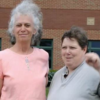 Linda Stephens and Susan Galloway sued the town of Greece, New York in 2008 over the opening invocation at each town board meeting. The landmark case, Town of Greece v. Galloway, was heard in the U.S. Supreme Court and has set a legal precedent for prayer in public meetings. (Photo courtesy Linda Stephens)