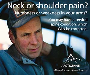 Neck or shoulder pain? Numbness or weakness in your arms? You may have a cervical spine condition, which CAN be corrected. Arctic Spine - Alaska
