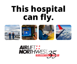 This hospital can fly. Airlift Northwest - celebrating 35 years