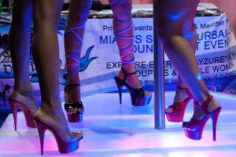 One Juneau visitor's Super Bowl tradition prompted him to wonder why Juneau doesn't have any strip clubs? Photo of eXXXotica Miami 2010 on May 15, at the Miami Beach Convention Center. (Creative Commons photo by brh_Images)