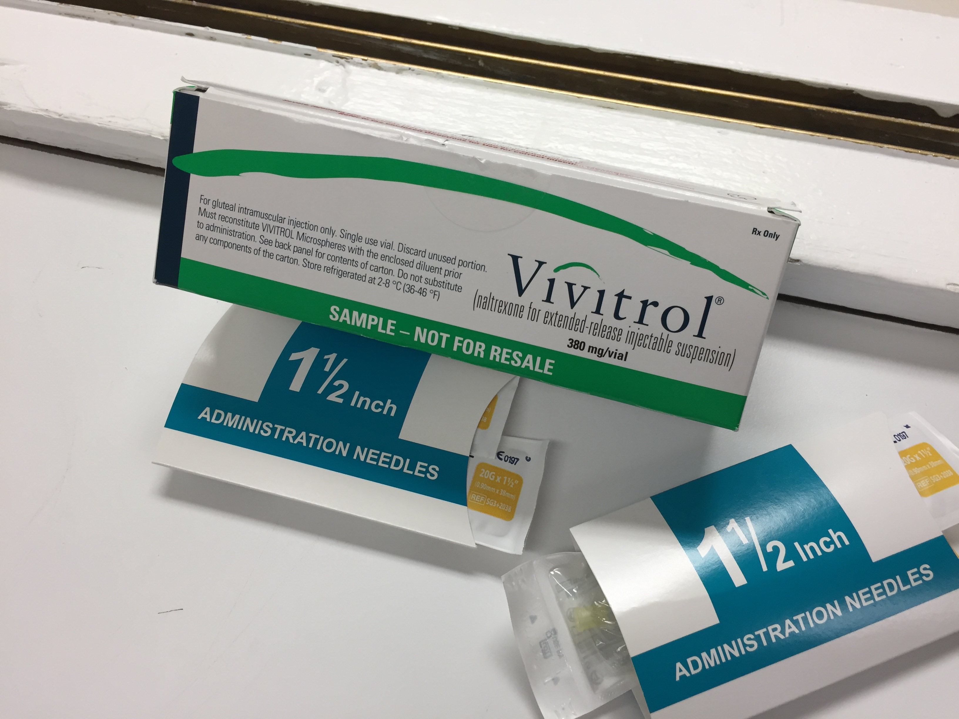 Vivitrol is the injectable form of naltrexone, which cuts cravings for opioids and alcohol. (Photo by Anne Hillman/Alaska Public Media)