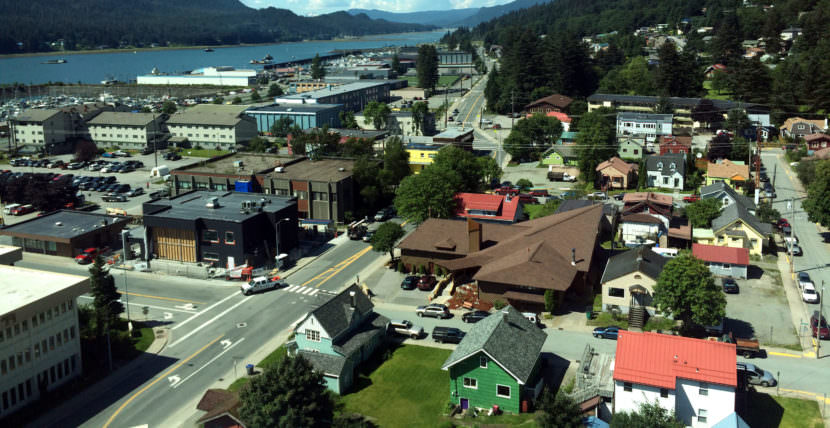 The Flats neighborhood of downtown Juneau.