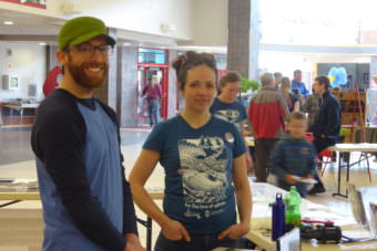 Phillip Moser, left, and Bryn Fluharty are with Southeast Alaska Conservation Council.