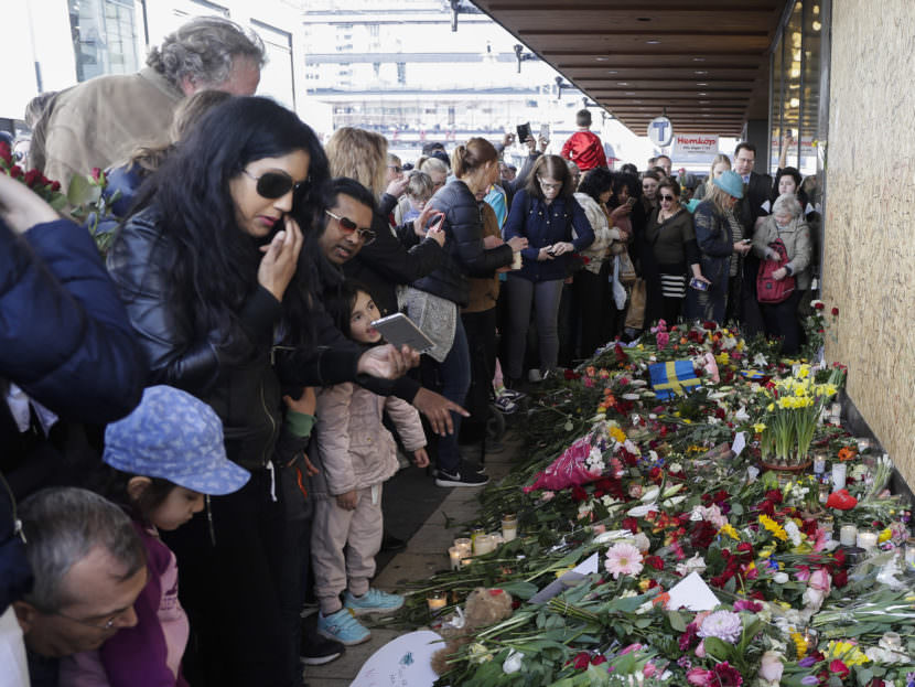 Thousands gathered Sunday at the Swedish department store where a 39-year-old Uzbek man is suspect of committing a deadly truck attack. Police say the suspect had been ordered to leave the country and expressed extremist sympathies.