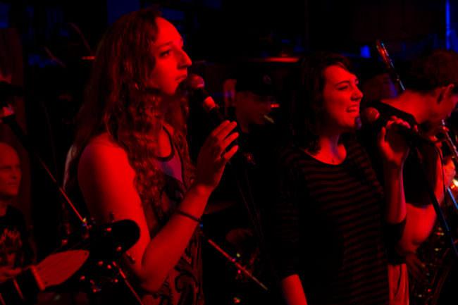 Taylor Vidic and Cameron Brockett of the Quaintrelles perform at Louie's Douglass Inn at 9:00 Thursday. (Photo by Annie Bartholomew/KTOO)
