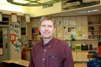 Eagle's View Elementary Achigaalux Principal Eric Andersen is leaving Unalaska in June after more than 15 years at the school. (Photo by Annie Ropeik/KUCB)