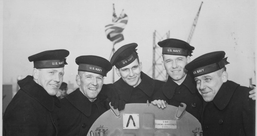 The five Sullivan brothers were all killed in the World War II sinking of the USS Juneau on Nov. 13, 1942. From left to right: Joseph, Francis, Albert, Madison and George Sullivan.