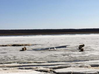 The Kuskokwim Ice Classic tripod fell at 4:40 p.m., Thursday, May 4, 2017. But the clock, counting down to break up and a $12,500 prize, continues to tick.
