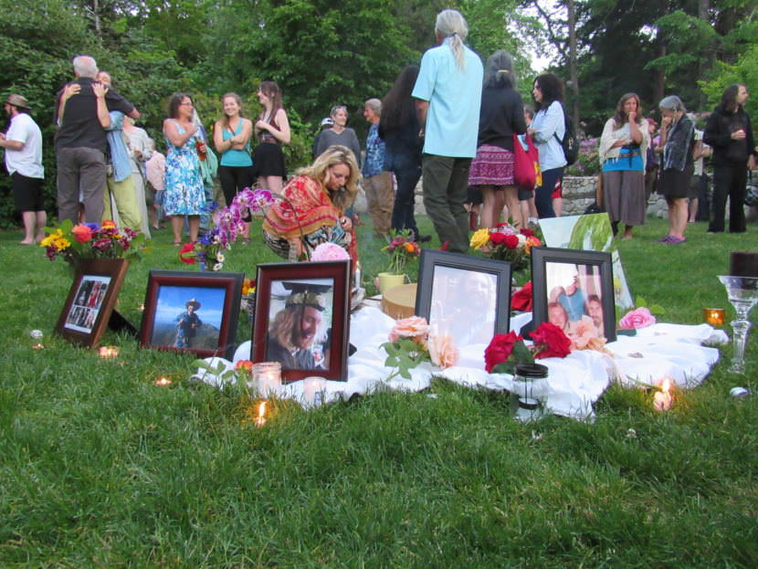 The memorial for Taliesin Nomkai Meche was held in Ashland's Lithia Park on the evening of Saturday, May 27, 2017.