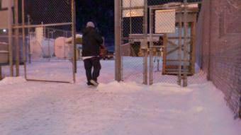 A former inmate leaves Lemon Creek Correctional Center.