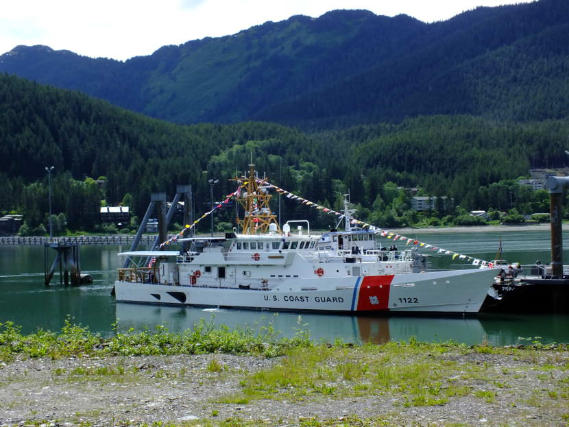 USCGC Bailey Barco during commissioning in Juneau June 14, 2017.