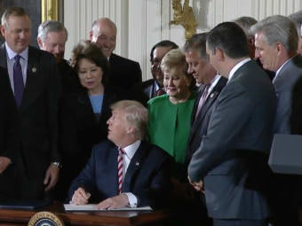 President Donald Trump at the White House on Monday. (Image from Whitehouse.gov video)