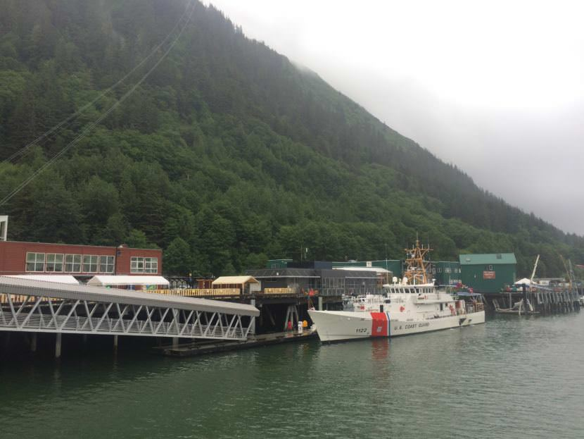 U.S. Coast Guard cutter Bailey Barco holds an open house following its commissioning in Juneau in June 2017.