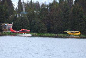 Floatplanes on Beluga Lake.