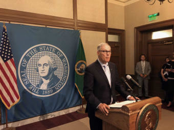 Washington Gov. Jay Inslee declared a third special session on Wednesday and said it was time to ''crack the whip'' on lawmakers to get a budget deal and avoid a July 1 government shutdown. (Photo by Austin Jenkins/Northwest News Network)