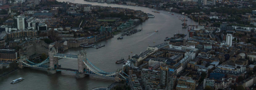 London Bridge and The River Thames in October 2016.