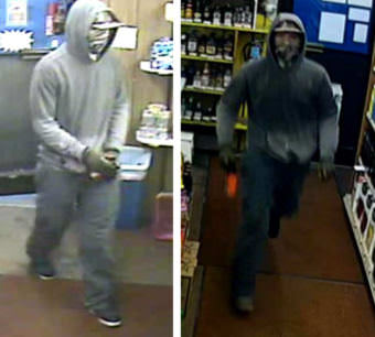 Juneau police released these images of a suspect they say robbed a Liquor Barrel convenience store in Lemon Creek this week. (Photo courtesy Juneau Police Department)