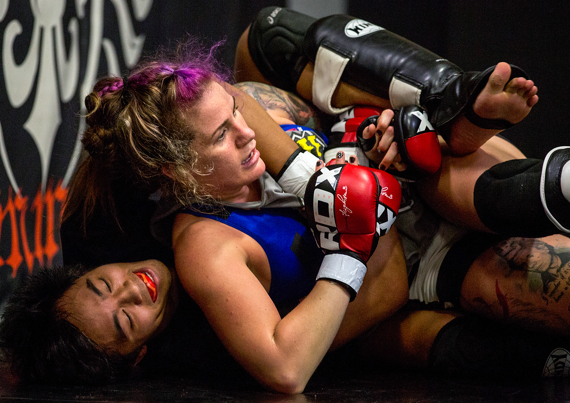 Mazany is one of 60 female fighters and 700 male fighters enrolled in a Cleveland Clinic study that's delving into how concussions might differ between women and men. (Photo by Bridget Bennett for NPR)