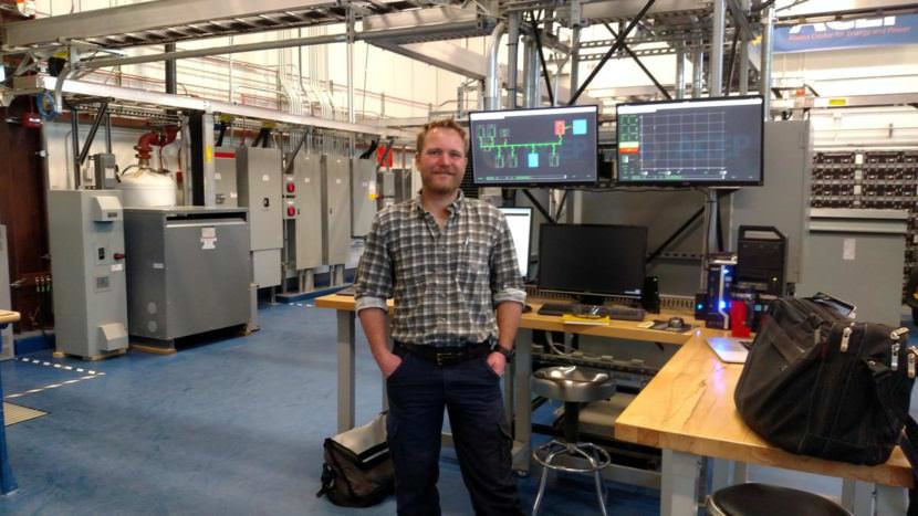 Marc Mueller-Stoffels directs ACEP's Power Systems Integration Lab, where winners of the Microgrid Technology Competition will be able to test their technologies.