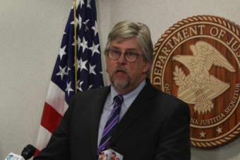 Acting Alaska U.S. Attorney Bryan Schroder speaks at a press conference in Anchorage on March 23, 2017.