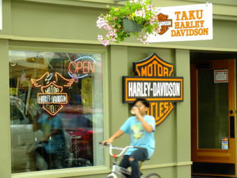 Taku Harley-Davidson on Franklin Street in downtown Juneau.