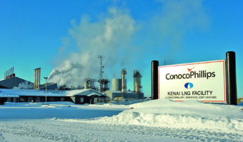 The Feb. 2, 2008 file photo shows the ConocoPhillips LNG facility in Nikiski. The company plans to mothball the facility in the fall of 2017. (Photo courtesy of the Peninsula Clarion)